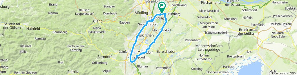 Sportliche Route in Achau