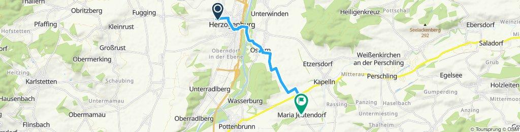 Moderate Route in Maria Jeutendorf