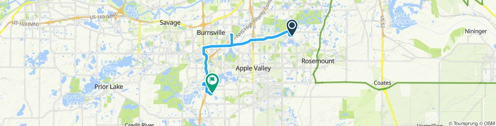 Sporty route in Lakeville