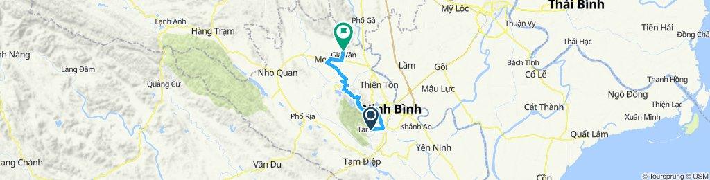 Slow ride in H. Hoa Lư