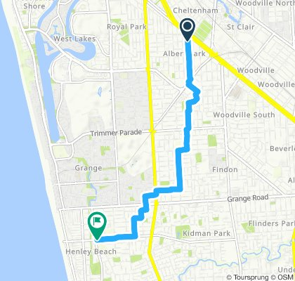 Relaxed route in Henley Beachnn