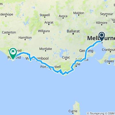 Melbourne to Portland