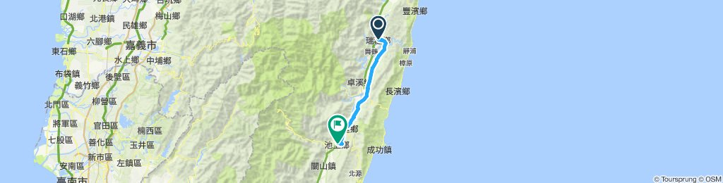 Restful route - Ruisui to Chishang