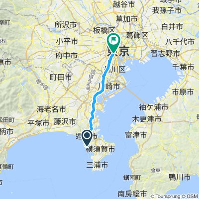 Akasaka → Hayama