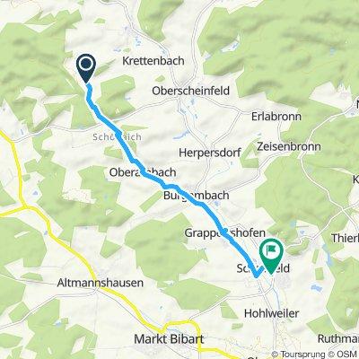 Einfache Fahrt in Scheinfeld