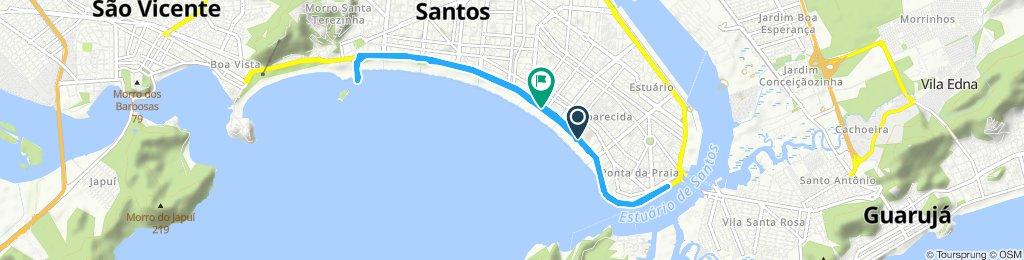 Caminhada lenta Santos