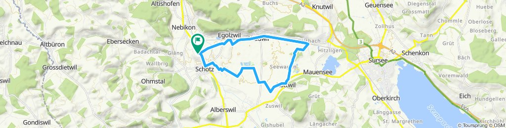 Gemütliche Route in Schötz