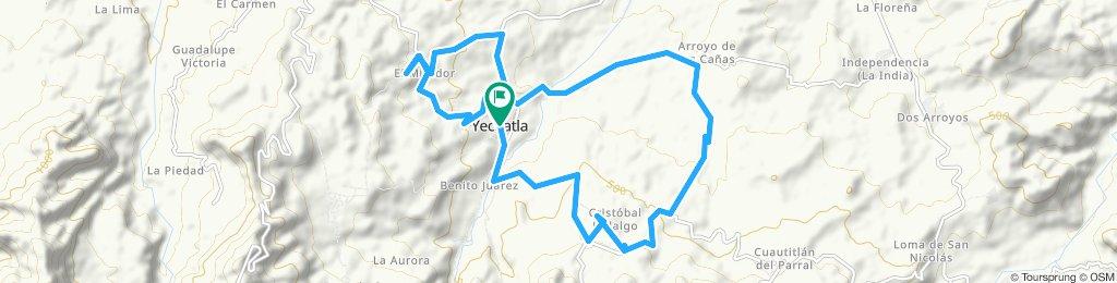 Ruta moderada en Yecuatla