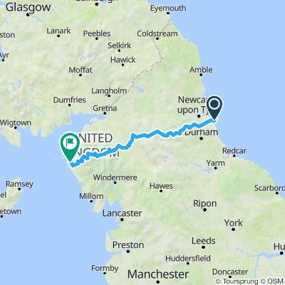 C2C von Newcastel nach Whitehaven