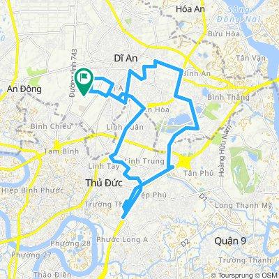 Relaxed route in Thị xã Dĩ An