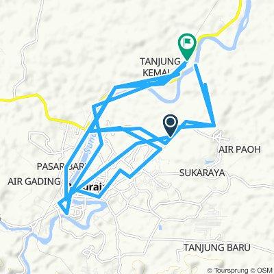 Moderate route in Lubuk Batang