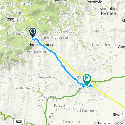 High-speed route in Pino Torinese