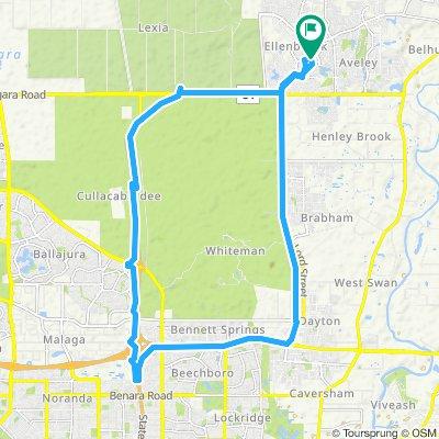 Restful route in Ellenbrook