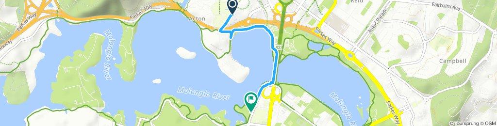 Moderate route in Yarralumla