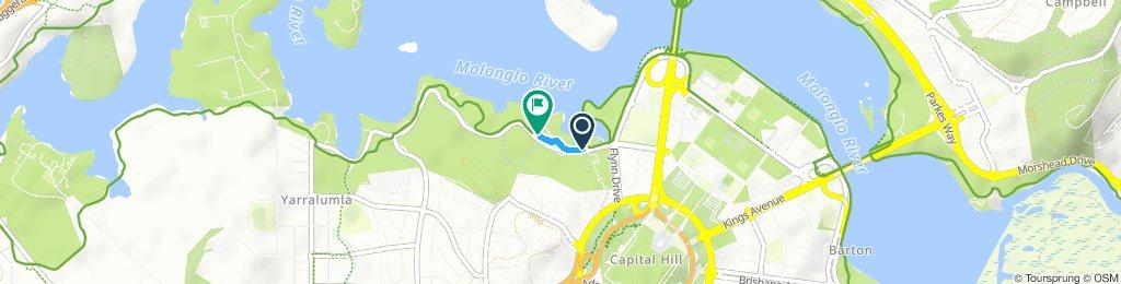 Restful route in Yarralumla