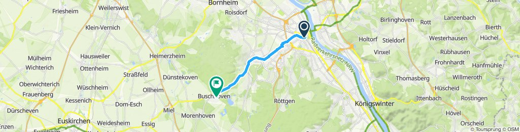Gerade Fahrt in Swisttal