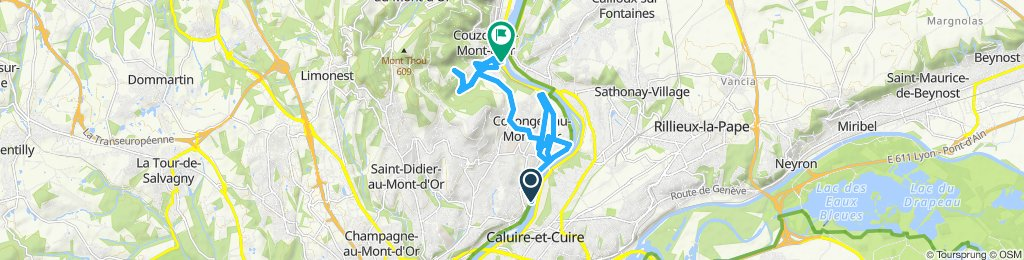 Itinéraire confortable en Collonges-au-Mont-d'Or