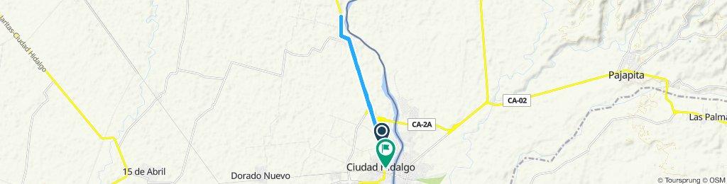 Ruta deportiva en Ciudad Hidalgo
