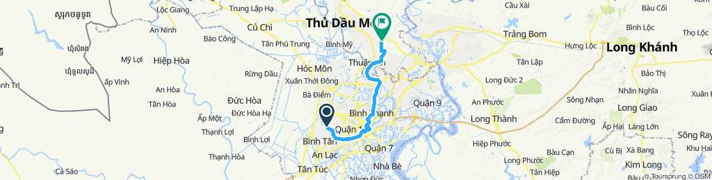 輕鬆的路線 Tx. Thuận An回程