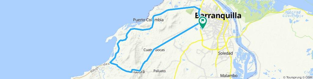 puerto colombia segundo peaje segunda de veleros cuarto de milla bajo la Habana tubara cuatro boca Juan mina BarranquillaRuta moderada en Barranquilla