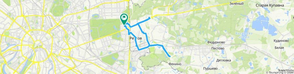 Велоездки осенние морозные Балашиха-Реутов-Салтыковка 21 11 2019