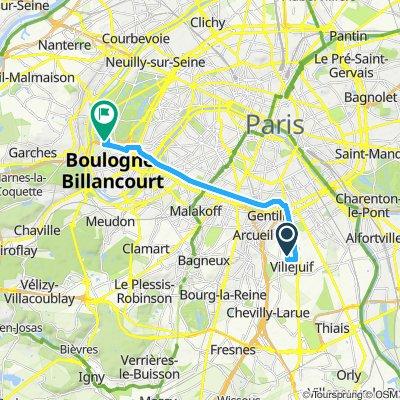 Itinéraire reposant en Boulogne-Billancourt