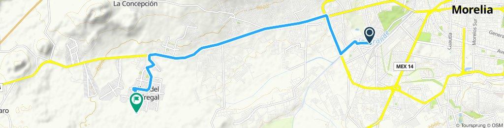 Paseo rápido en Morelia