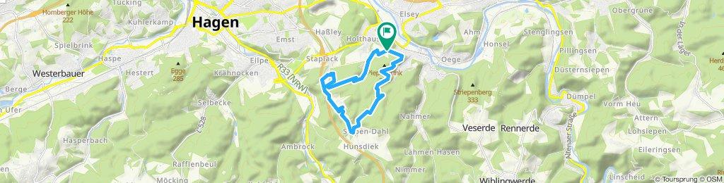 Moderate Route in Hagen-Märchenwald