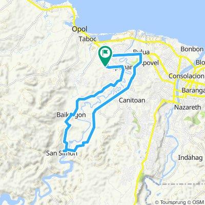 Moderate route in Cagayan de Oro City