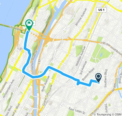 Sporty route in New York