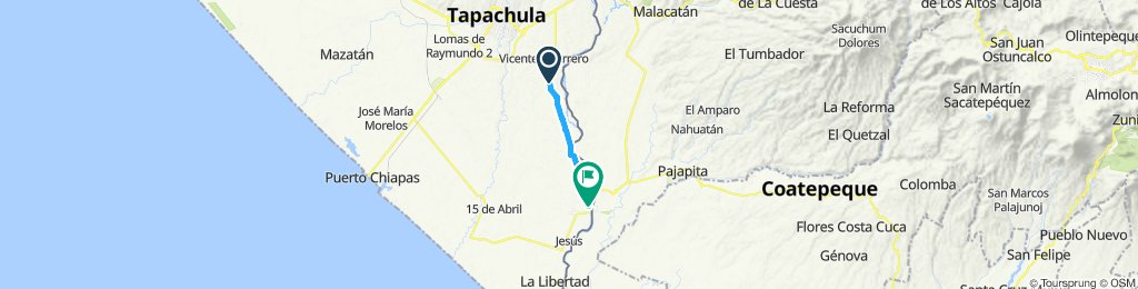 Ruta rápida en Ciudad Hidalgo0