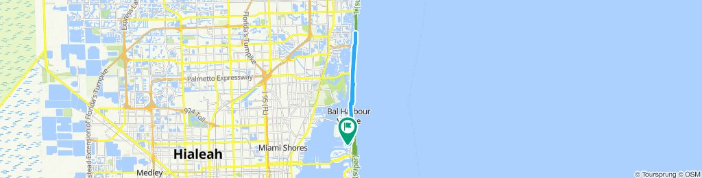 High-speed route in sunny isles beach