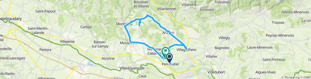 Itinéraire route Pennautier