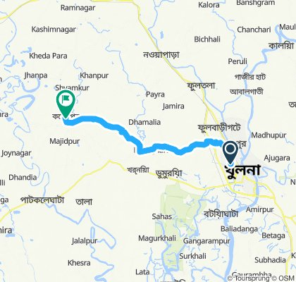 Moderate route in Keshabpur