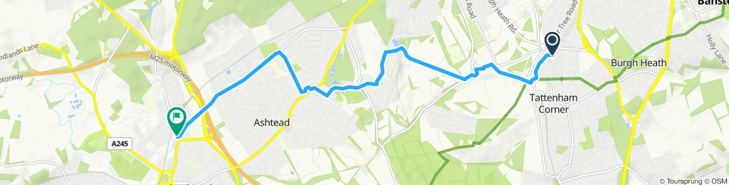 High-speed route in Leatherhead