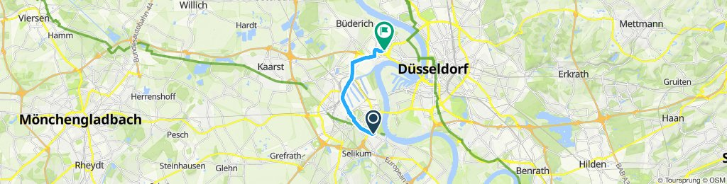 Moderate Route in Düsseldorf