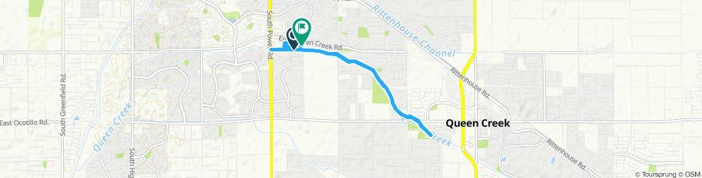 High-speed route in Queen Creek