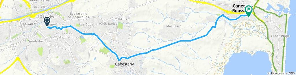 Itinéraire reposant en Canet-en-Roussillon
