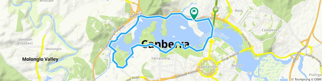 lake burley griffin at Canberra(west side)