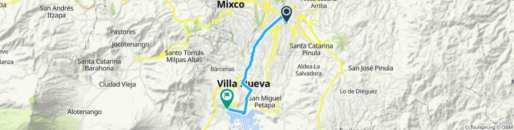 Ruta deportiva en Villa Nueva