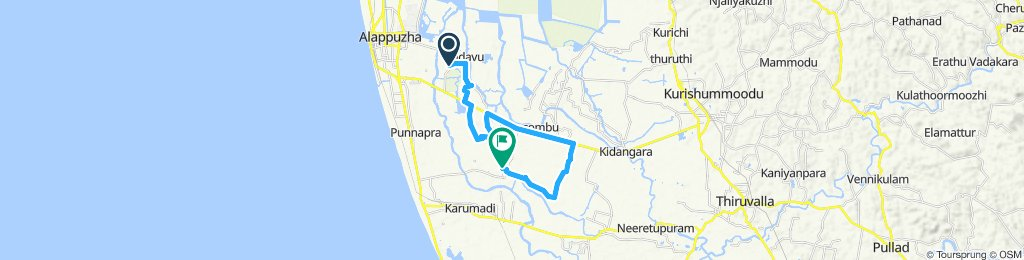 Relaxed route in champakulam