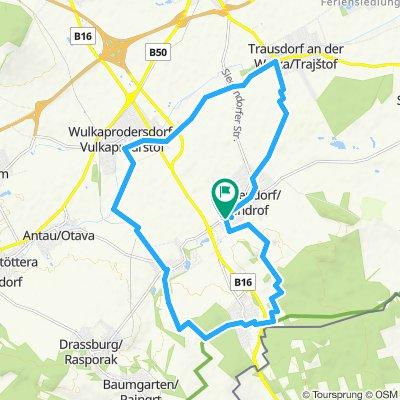 Gerade Fahrt in Siegendorf