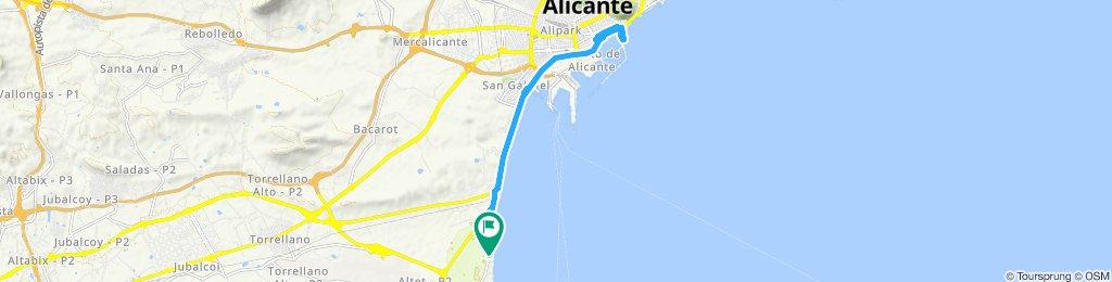 Von Urbanova nach Alicante und zurück