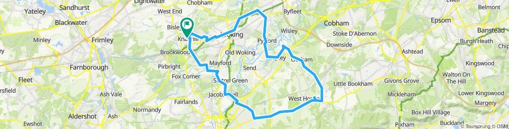 Restful route in Woking