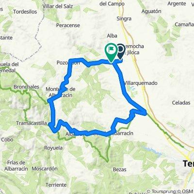 Santa Eulalia - Cella - Gea de Albarracin - Albarracin - Torres de Albarracin - Monterde de Albarracín - Ermita Virgen de los Ángeles - Pozondón - Santa Eulalia