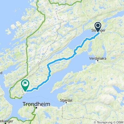 Sykkelrute 1 Steinkjer - Vanvika