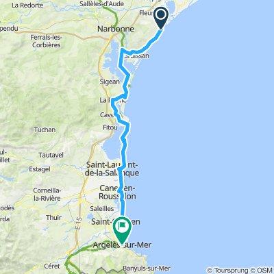 Etape 6:  Saint-Pierre-la-mer ->Argeles sur mer