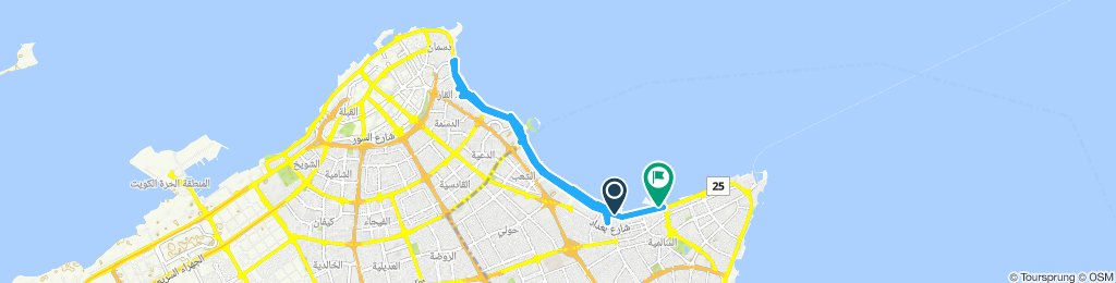 Relaxed route in Kuwait City