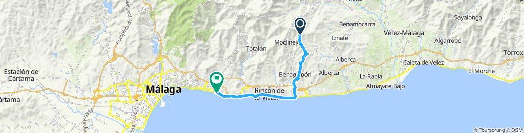 Paseo rápido en Málaga