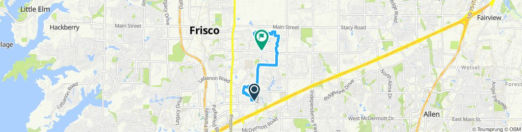 Restful route in Frisco